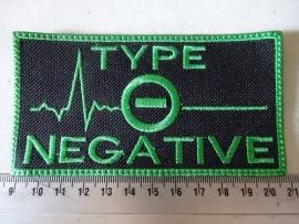 TYPE O NEGATIVE - GREEN LOGO ( GREEN BORDER )