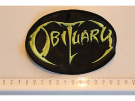 OBITUARY - GREEN NAME LOGO ( OVAL )