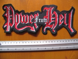 POWER FROM HELL - RED/WHITE LOGO