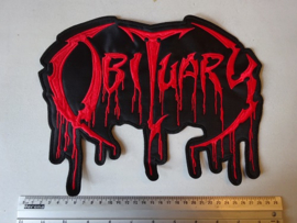 OBITUARY - RED BLOODY NAME LOGO