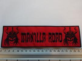 MANILLA ROAD - BLACK NAME LOGO ( STRIPE ) 20 CM