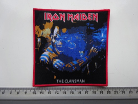 IRON MAIDEN - THE CLANSMAN ( RED BORDER ) WOVEN