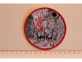 WATAIN - REAPING DEATH ( RED BORDER ) WOVEN