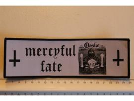 MERCYFUL FATE - MASKE ( BLACK BORDER ) WOVEN STRIPE
