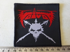 VOIVOD - RED/WHITE LOGO ( ORIGINAL ) WOVEN