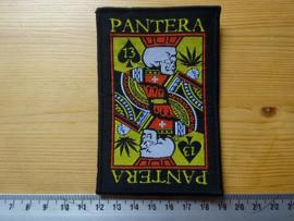 PANTERA - PLAYING CARDS ( BLACK BORDER ) WOVEN
