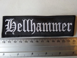 HELLHAMMER - WHITE LOGO ( UNCUT )