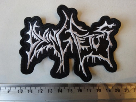 DYING FETUS - OLD LOGO ( WHITE SHAPED )