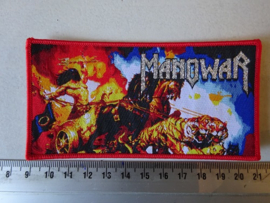 MANOWAR - FANTASY PRINT ( RED BORDER ) WOVEN