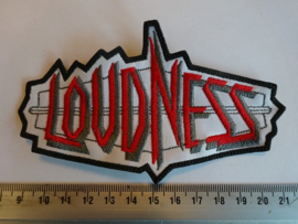LOUDNESS - RED/WHITE/BLACK NAME LOGO
