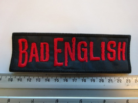 BAD ENGLISH - RED NAME LOGO