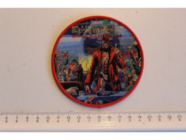 IRON MAIDEN - STRANGER IN A STRANGE LAND ( RED BORDER ) WOVEN