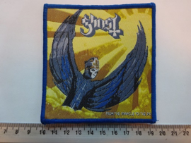 GHOST - FROM THE PINNACLE TO THE PIT ( BLUE BORDER ) WOVEN