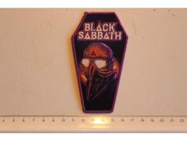 BLACK SABBATH - NEVER SAY DIE ( PRINT + EMBROI ) PURPLE BORDER