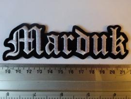 MARDUK - WHITE LOGO ( SHAPED )