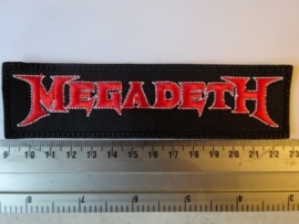 MEGADETH - RED/WHITE LOGO