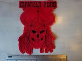 MANILLA ROAD - SKULL LOGO ( SHAPED )