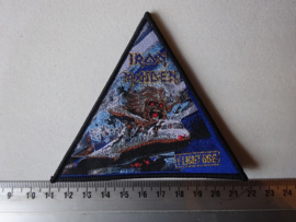 IRON MAIDEN - FLIGHT 666 TRIANGLE ( BLACK BORDER, WOVEN ) NUMBERED
