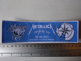 METALLICA - FREEZE EM ALL  (WOVEN) STRIPE WHITE BORDER