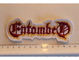 ENTOMBED - WHITE/RED/YELLOW NAME LOGO
