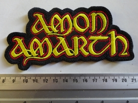 AMON AMARTH - YELLOW/RED NAME LOGO