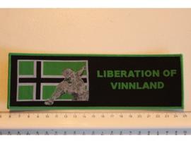 TYPE O NEGATIVE - LIBERATION OF VINNLAND ( GREEN BORDER ) WOVEN STRIPE