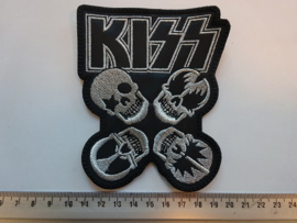 KISS - SKULL FACES ( SILVER )