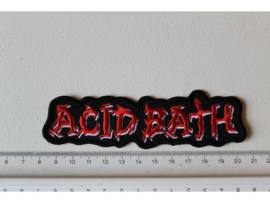 ACID BATH - RED/WHITE NAME LOGO ( SHAPED )