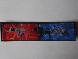 MERCYFULL FATE/KING DIAMOND - STRIPE (WOVEN) BLACK BORDER