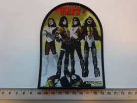 KISS - LOVE GUN ( BLACK BORDER ) WOVEN