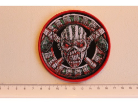 IRON MAIDEN - THE BOOK OF SOULS ( RED BORDER ) WOVEN 3