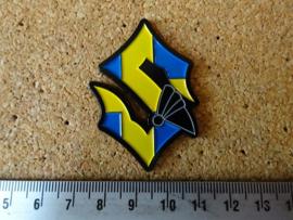 SABATON - S LOGO ( SWEDISH FLAG )