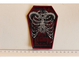 LEGION OF THE DAMNED - CHESS ( RED BORDER ) WOVEN