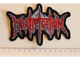 MORTIFICATION - RED/WHITE NAME LOGO