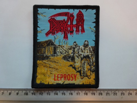 DEATH - LEPROSY ( BLACK BORDER ) WOVEN, DIFFERENT.