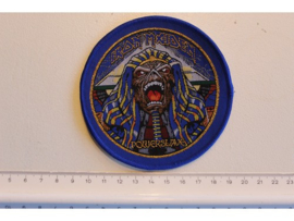 IRON MAIDEN - POWERSLAVE ( BLUE BORDER ) WOVEN 4