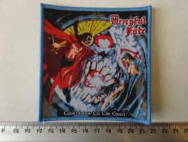 MERCYFUL FATE - COUNTDOWN TO THE COVEN ( WOVEN. BLUE BORDER )