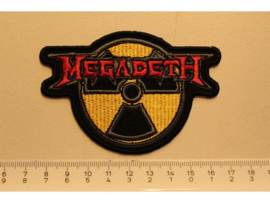 MEGADETH - RED NAME LOGO + ATOMIC LOGO