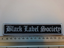 BLACK LABEL SOCIETY - WHITE NAME LOGO ( WHITE BORDER )