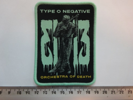 TYPE O NEGATIVE - ORCHESTRA OF DEATH ( GREEN BORDER ) WOVEN