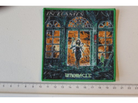 IN FLAMES - WHORACLE ( GREEN BORDER ) WOVEN
