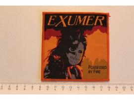 EXUMER - POSSESSED BY FIRE ( ORANGE BORDER ) WOVEN ( LAST COPY )