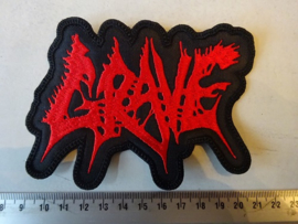 GRAVE - RED LOGO ( SHAPED )