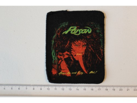 POISON - OPEN UP AND SAY... AHH ( ORIGINAL 80'S ) PRINT