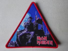 IRON MAIDEN - 2 MINUTES TO MIDNIGHT TRIANGLE RED BORDER NUMBERED