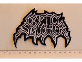 CRYPTIC SLAUGHTER - WHITE NAME LOGO