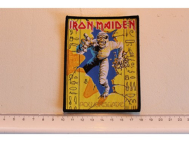 IRON MAIDEN - POWERSLAVE ( BLACK BORDER ) WOVEN 1