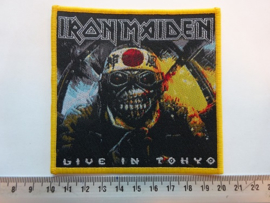 IRON MAIDEN - LIVE IN TOKYO ( YELLOW BORDER ) WOVEN