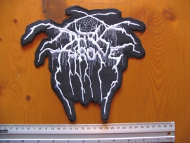 DARKTHRONE - SHAPED WHITE LOGO