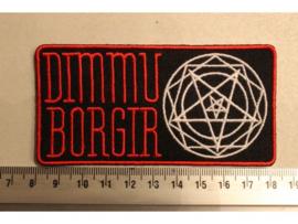 DIMMU BORGIR - RED NAME + WHITE PENTAGRAM